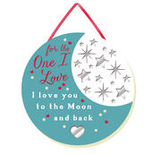 One I Love Hanging Plaque With Ribbon