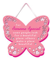For Someone Special Hanging Plaque With Ribbon