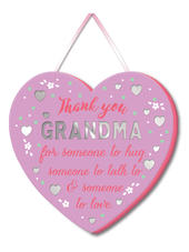 Thank you Grandma Hanging Plaque With Ribbon
