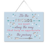 Friends Along The Way Hanging Plaque With Ribbon