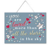 You Are Loved Hanging Plaque With Ribbon