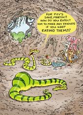 Martin The Snake Funny Birthday Greeting Card