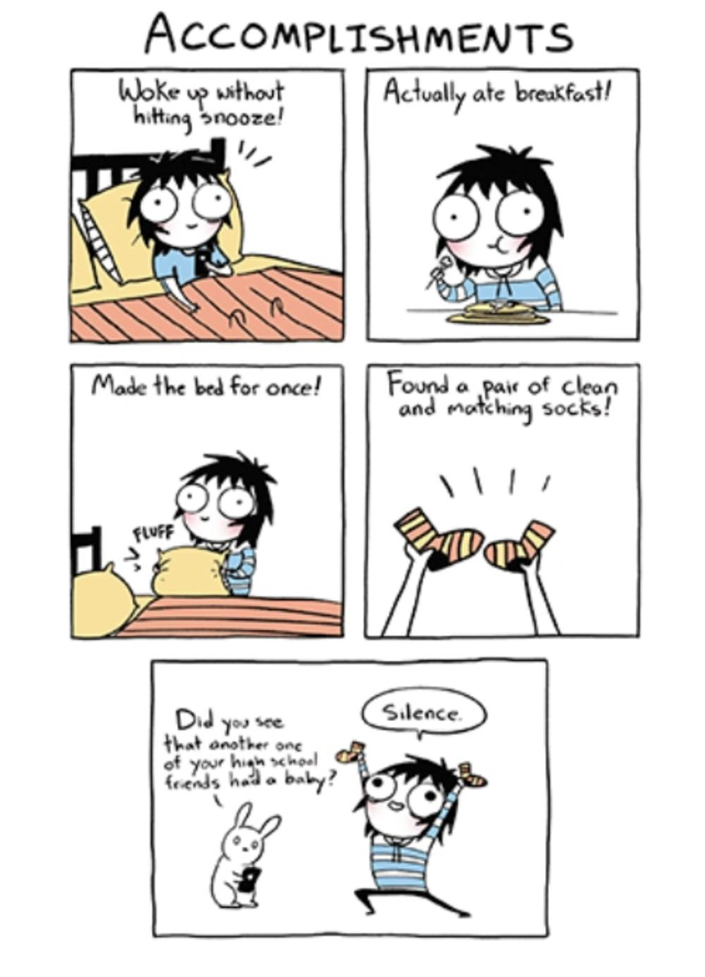 Accomplishments Sarah Scribbles Funny Birthday Greeting Card