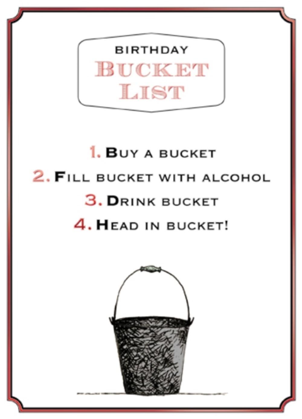 Bucket List Funny Wine Oclock Birthday Greeting Card Cards Love