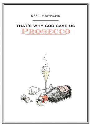 S**t Happens Funny Wine O'clock Birthday Greeting Card