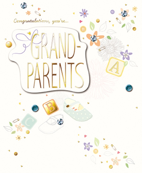 you re grandparents embellished congratulations greeting card cards