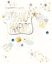 You're Grandparents Embellished Congratulations Greeting Card