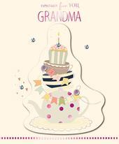 For You Grandma Embellished Birthday Greeting Card