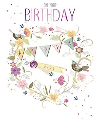 Happy Days Embellished Birthday Greeting Card