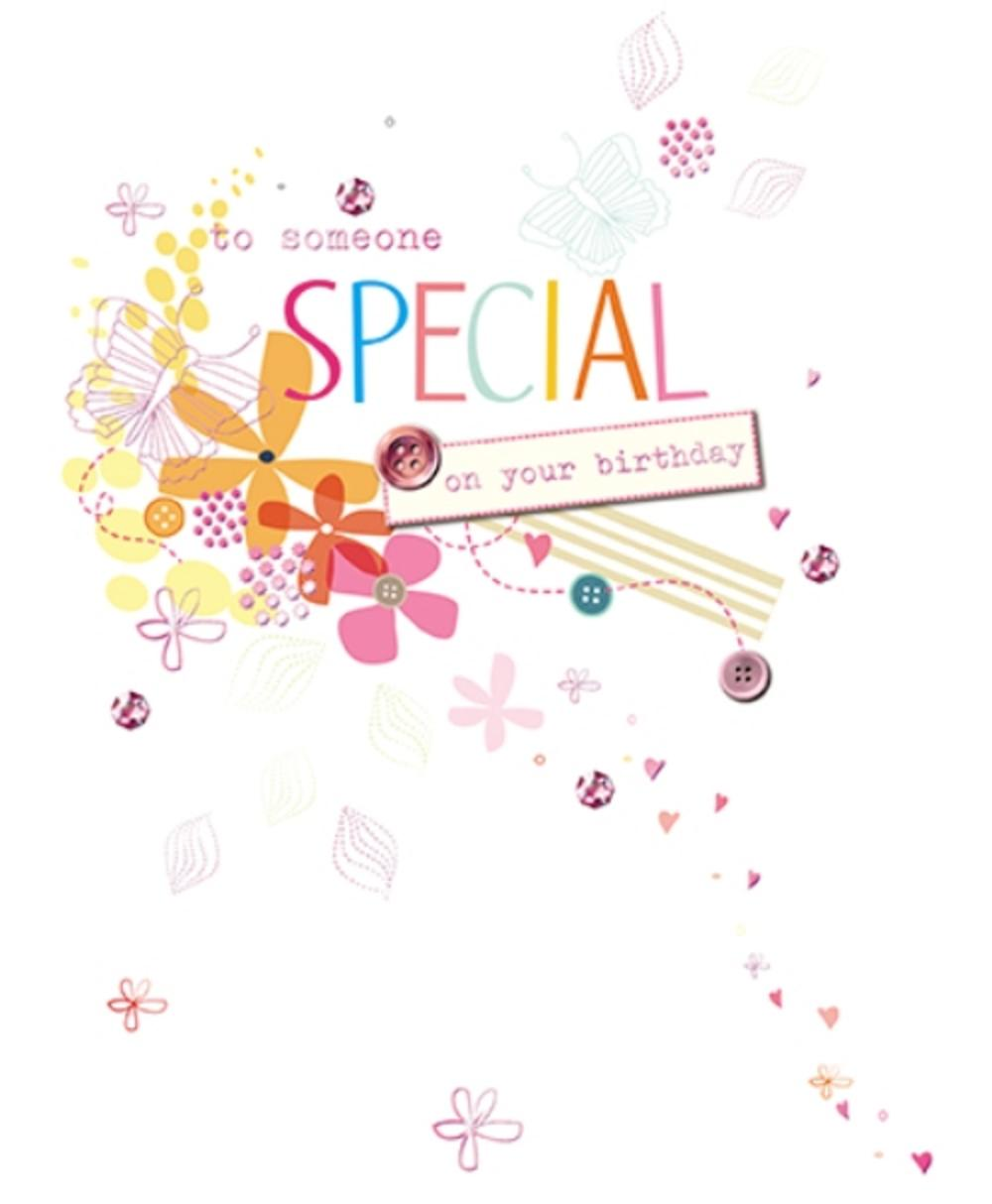 Someone Special Embellished Birthday Greeting Card