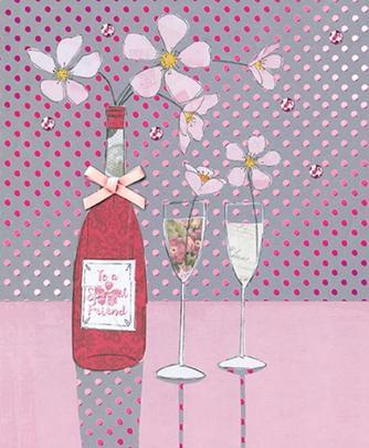 Specal Friend Embellished Birthday Greeting Card