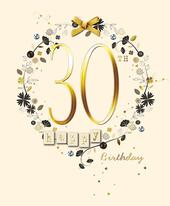 Happy 30th Birthday Embellished Greeting Card