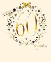 Happy 60th Birthday Embellished Greeting Card