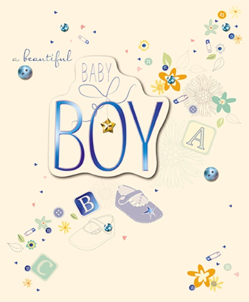 New baby boy embellished congratulations greeting card cards new baby boy embellished congratulations greeting card m4hsunfo