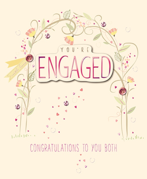 Youre engaged embellished engagement greeting card cards love kates youre engaged embellished engagement greeting card m4hsunfo