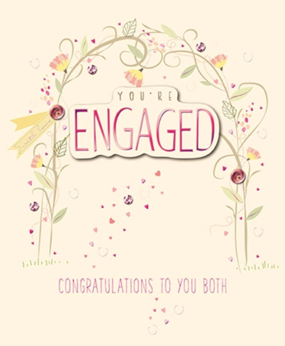 You Re Engaged Embellished Engagement Greeting Card Cards