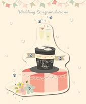 Wedding Congratulations Embellished Greeting Card