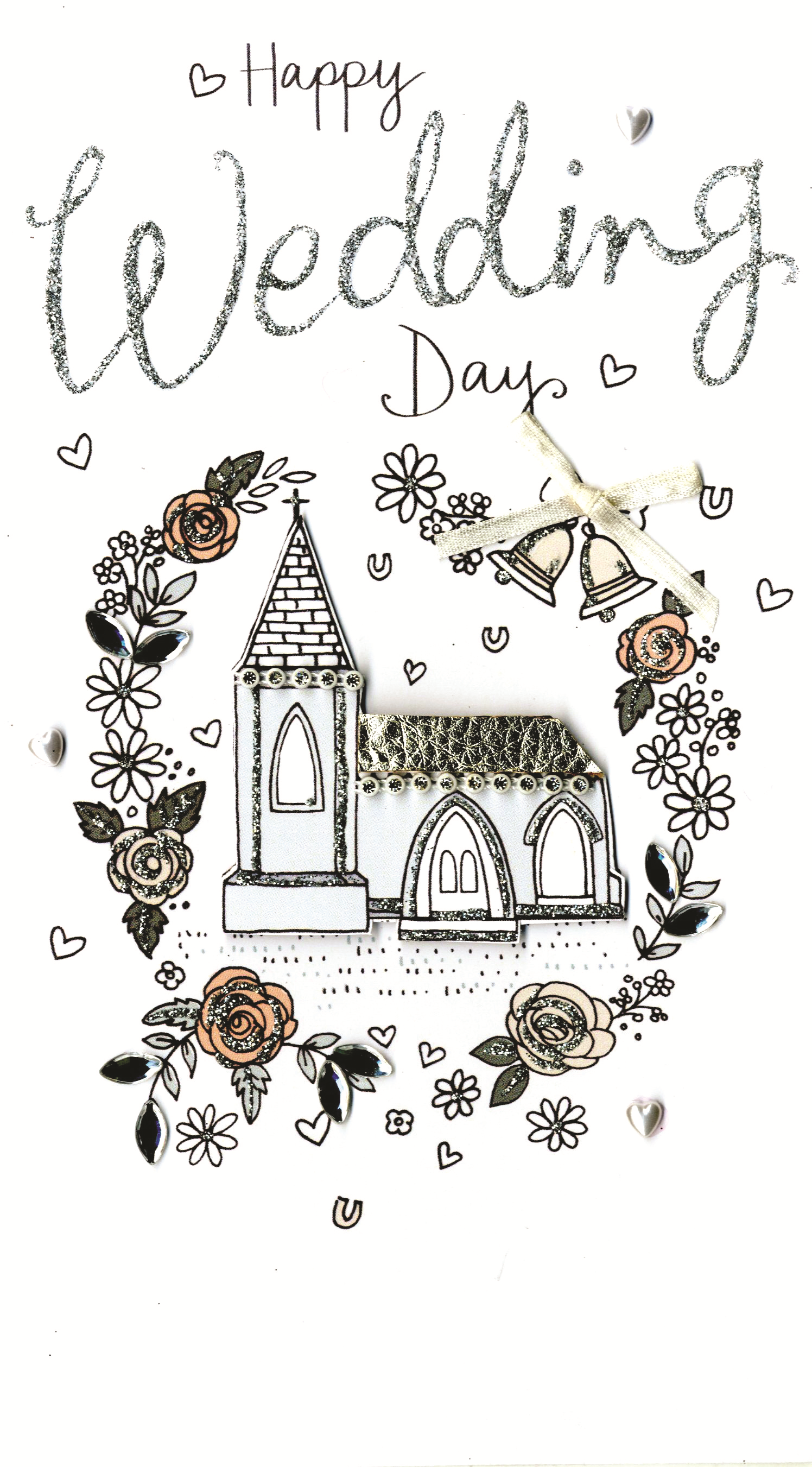 Happy Wedding Day Luxury Champagne Greeting Card   Cards   Love Kates