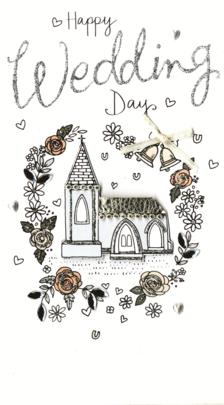 Happy Wedding Day Luxury Champagne Greeting Card