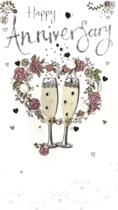 Happy Anniversary Luxury Champagne Greeting Card