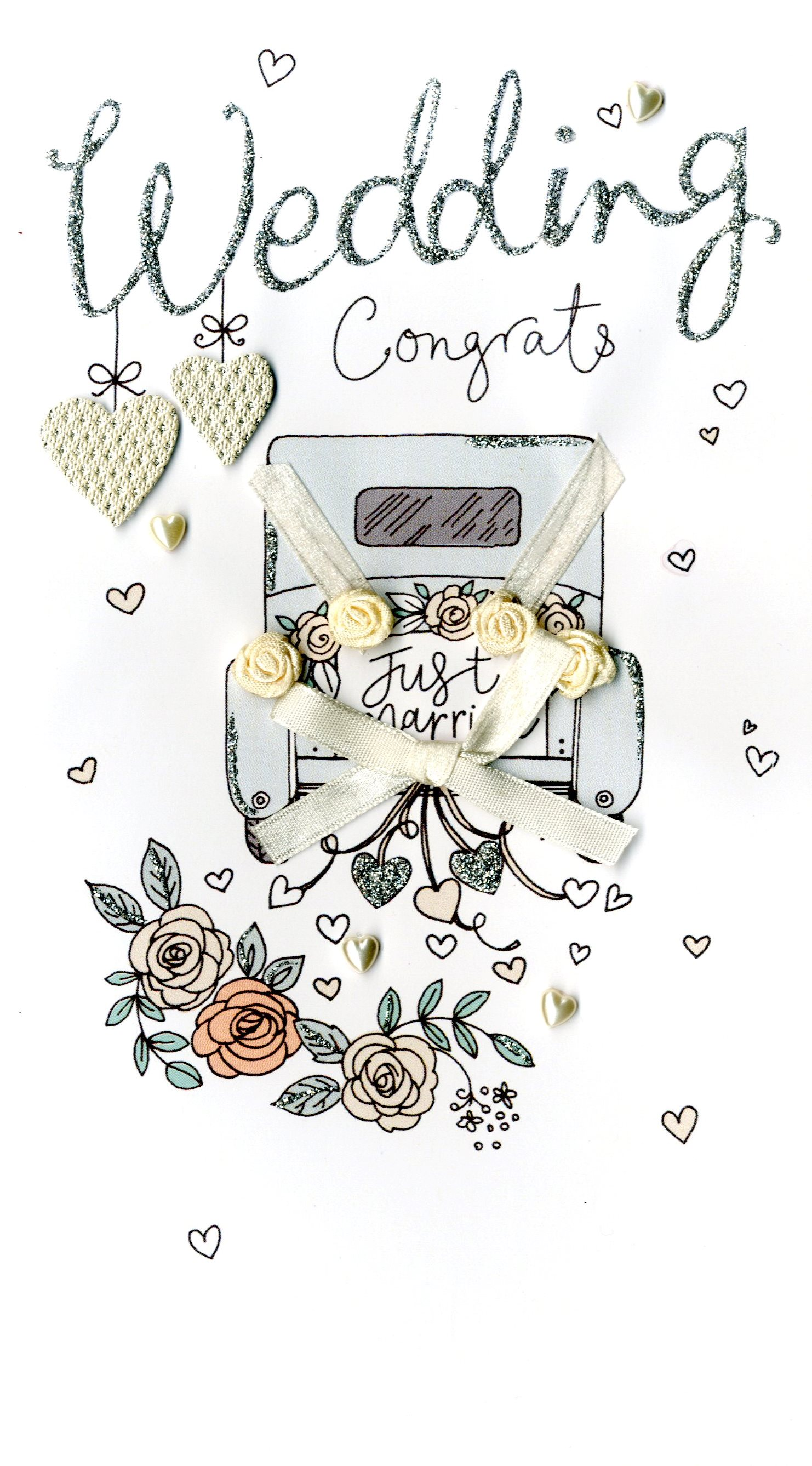 Wedding Day Congrats Luxury Champagne Greeting Card   Cards   Love Kates