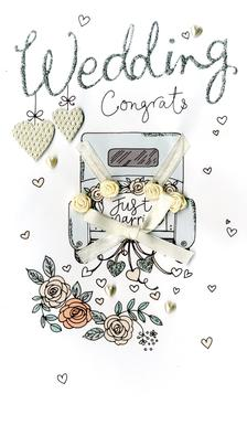 Wedding Day Congrats Luxury Champagne Greeting Card