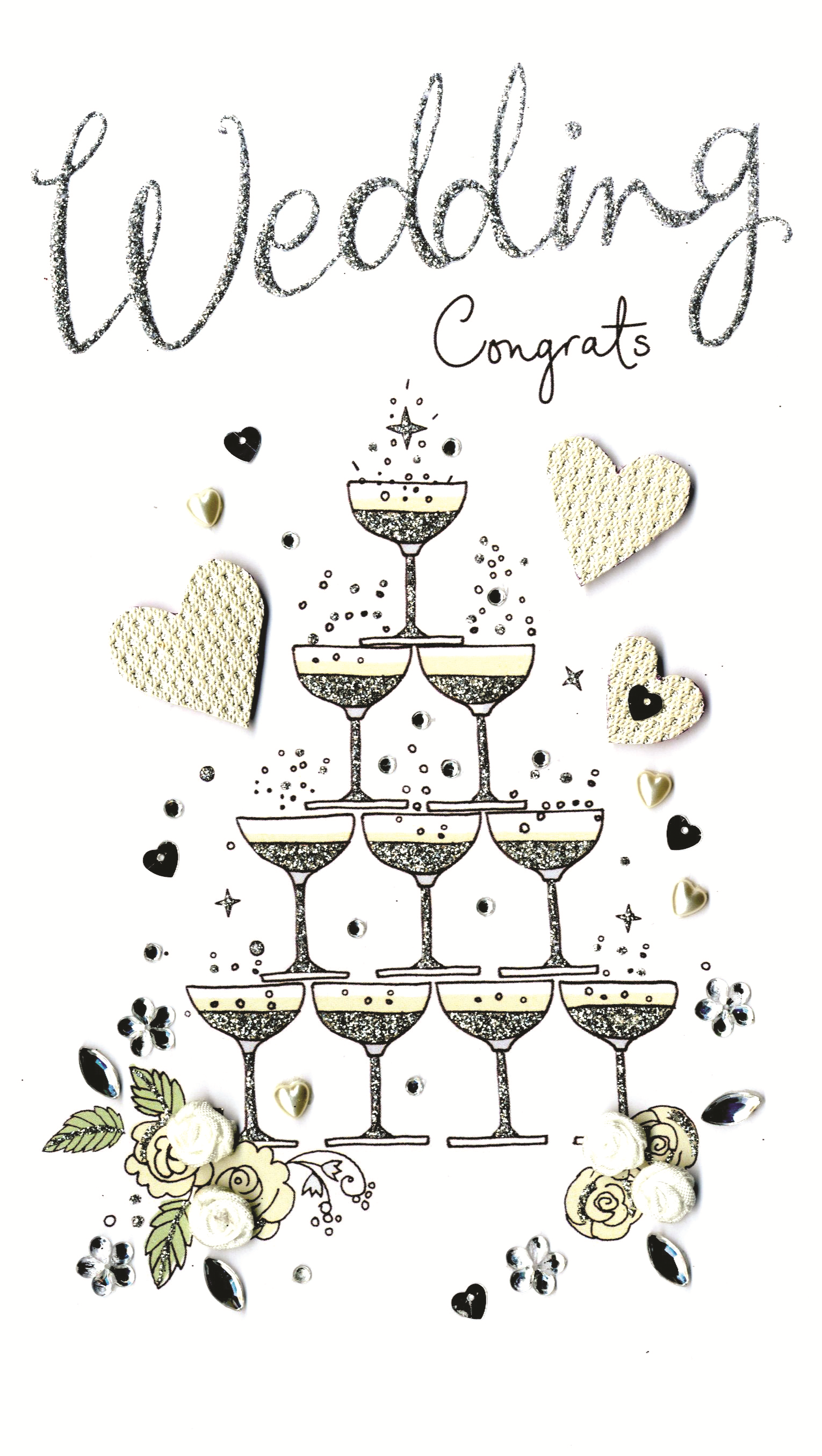 Wedding Congratulations Luxury Champagne Greeting Card