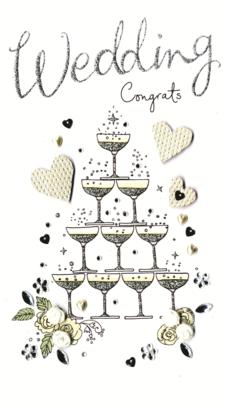 Wedding Congratulations Luxury Champagne Greeting Card