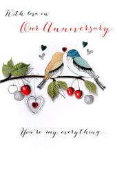 With Love On Our Anniversary Greeting Card