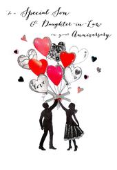 Son & Daughter-In-Law Anniversary Greeting Card