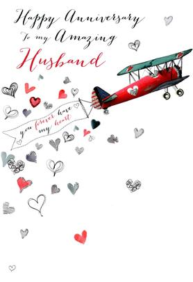 Husband Happy Anniversary Greeting Card