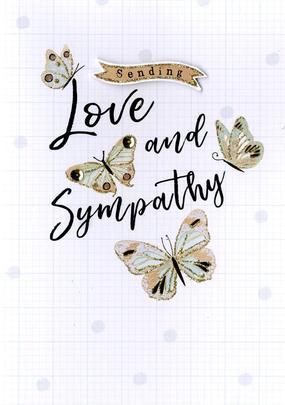 Sending Love & Sympathy Greeting Card
