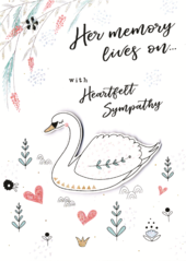 Her Memory Lives On Sympathy Greeting Card