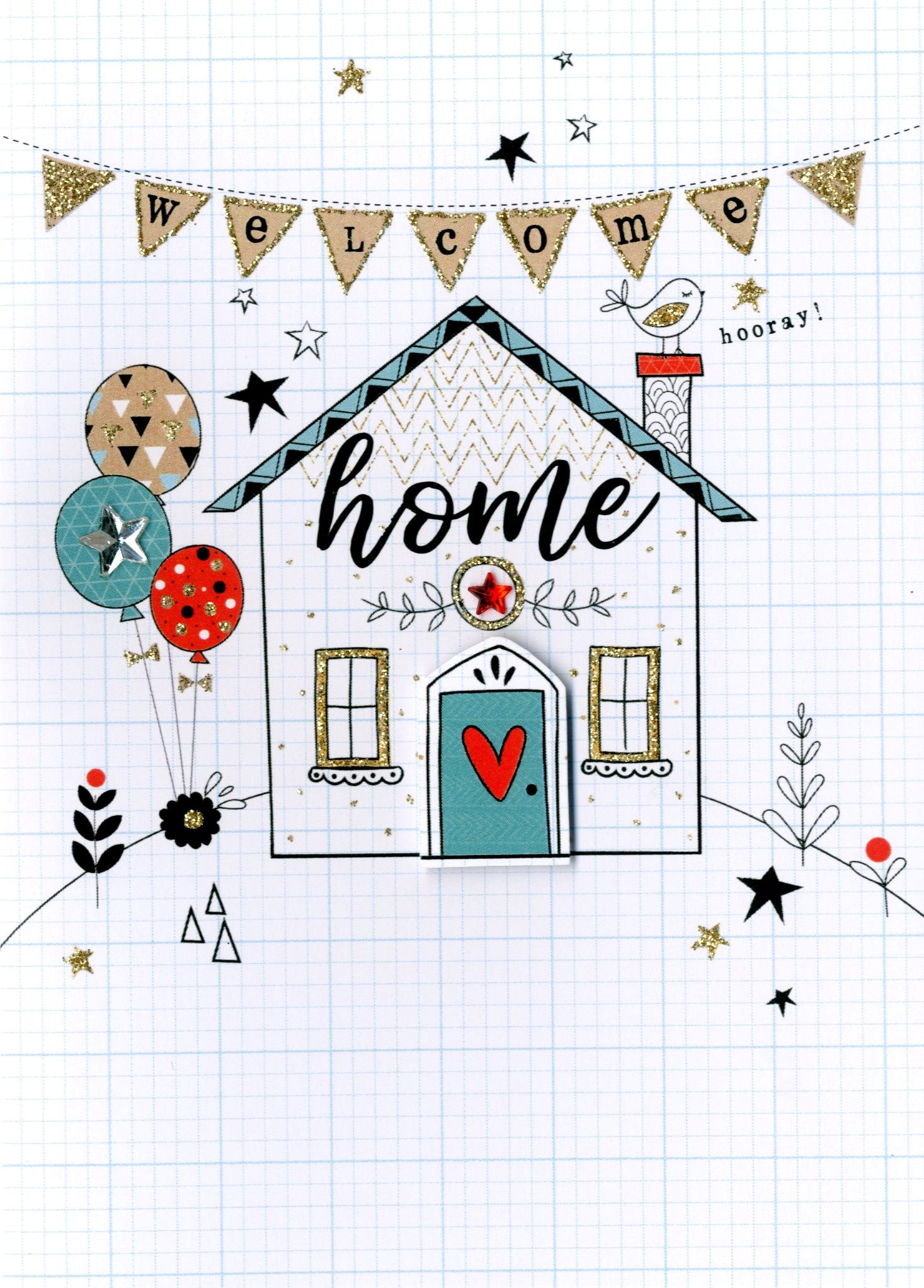 Welcome home greeting card cards love kates welcome home greeting card m4hsunfo