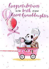New Baby Great-Granddaughter Greeting Card
