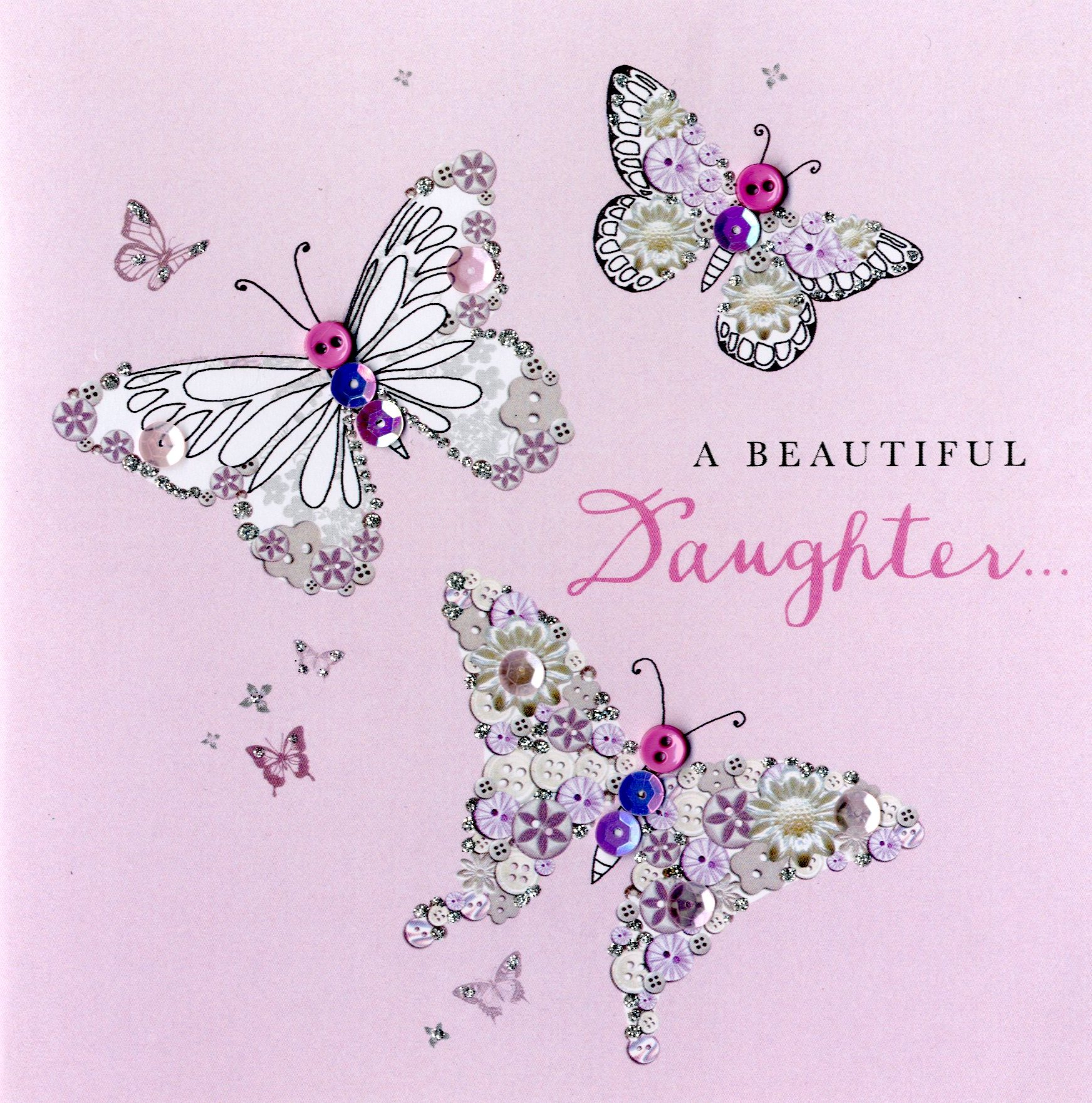 Beautiful Daughter Birthday Buttoned Up Greeting Card Cards Love