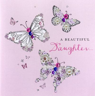 Beautiful Daughter Birthday Buttoned Up Greeting Card