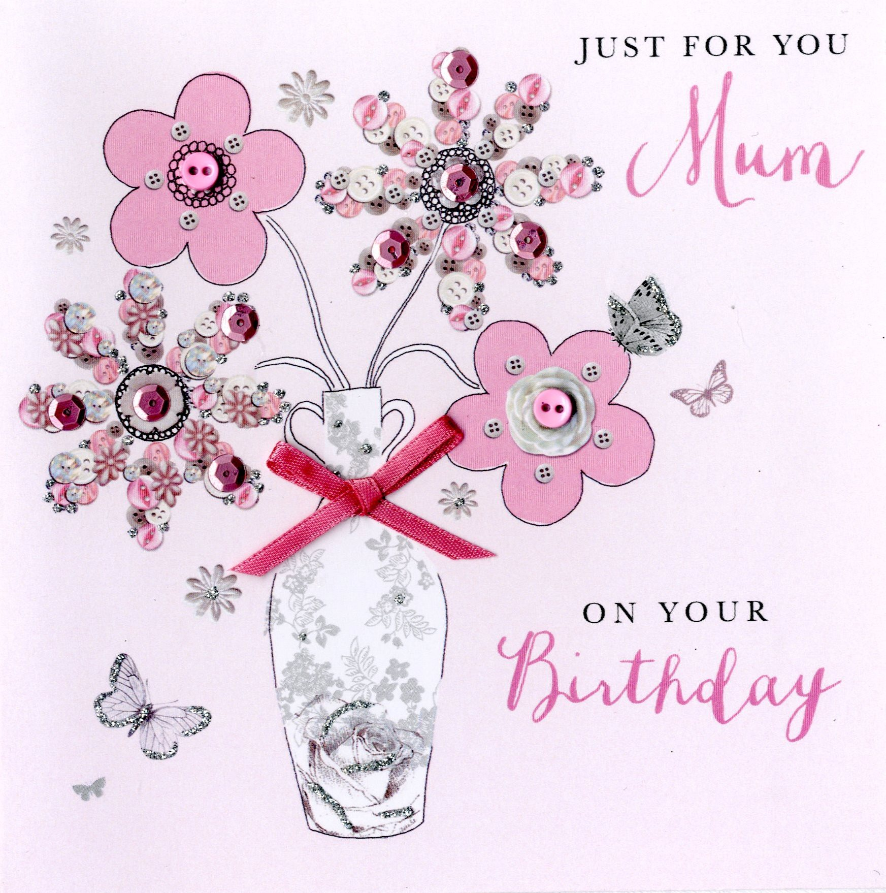 Just for you mum birthday buttoned up greeting card cards love kates just for you mum birthday buttoned up greeting card m4hsunfo