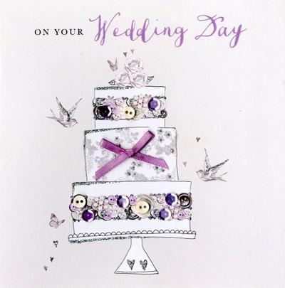 On Your Wedding Day Buttoned Up Greeting Card