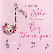 A Little Note To Say A Big Thank You Buttoned Up Greeting Card