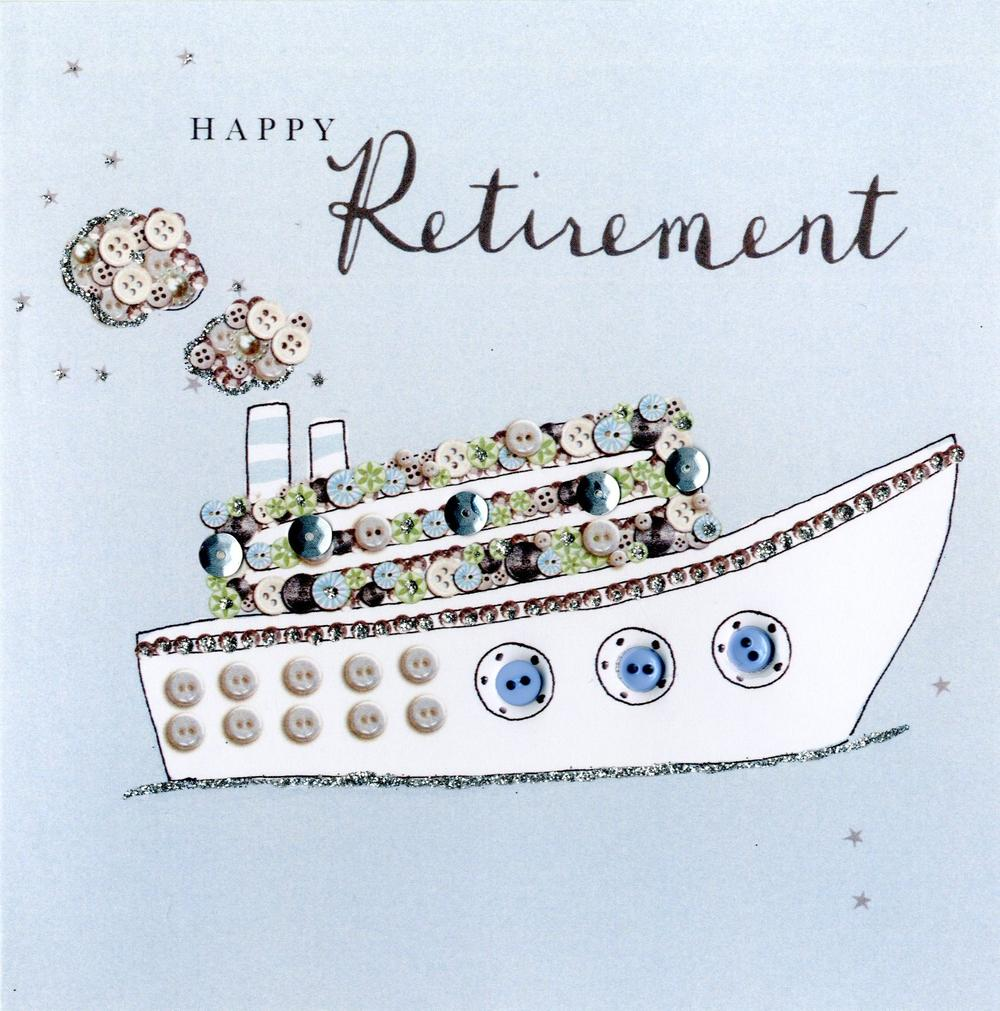 Happy Retirement Buttoned Up Greeting Card