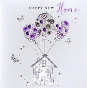 Happy New Home Buttoned Up Greeting Card