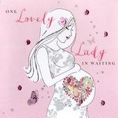 Lady In Waiting Expectant Mum Buttoned Up Greeting Card