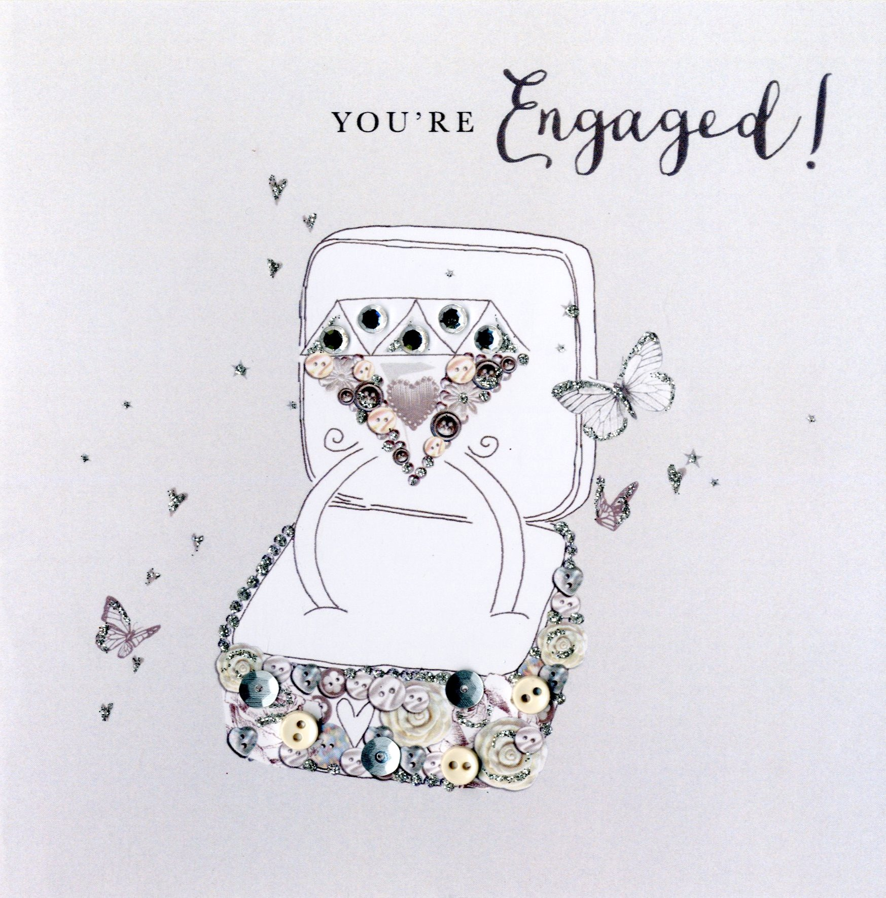Youre Engaged Engagement Buttoned Up Greeting Card Cards Love Kates