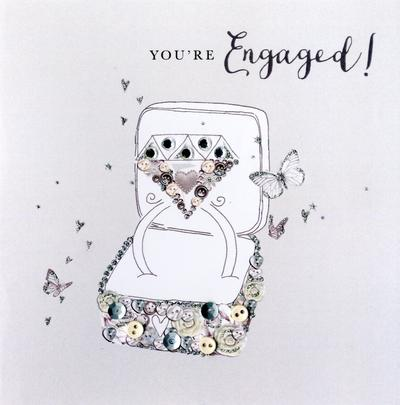 You're Engaged Engagement Buttoned Up Greeting Card