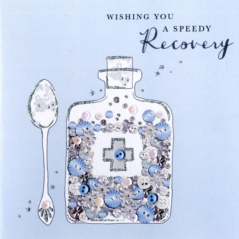 Speedy Recovery Get Well Buttoned Up Greeting Card