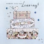 Sorry You're Leaving  Buttoned Up Greeting Card