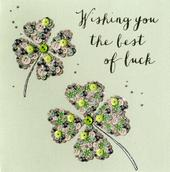 Wishing You The Best Of Luck Buttoned Up Greeting Card