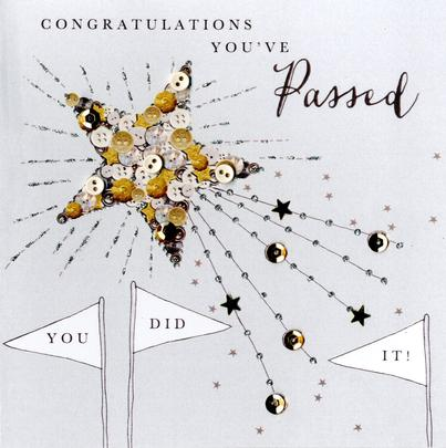 Congratulations You've Passed Buttoned Up Greeting Card