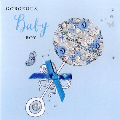 New Baby Boy Buttoned Up Greeting Card